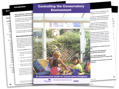 Free Guide to Controlling the Conservatory Environment
