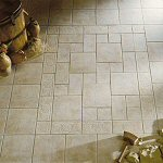 Tiled floors for kitchens