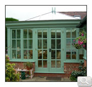 Green Wood Effect conservatory