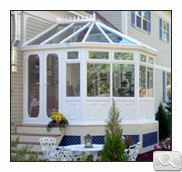 A five sided white uPVC victorian design