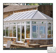 An extended bespoke conservatory in uPVC white